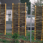 der zaunHälts - Haselgeflecht mit Lärchenholz