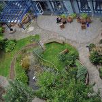 Vogelperspektive auf Sinnesgarten Köln Kalk