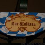 Deko für Biergarten an der Bavaria zur Wiesnzeit