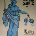 handgemalter Hintergrund für Shocking Short Gerichts-Veranstaltung