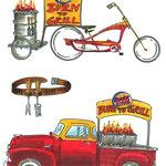 Skizzen für BurgerKing Roadtour