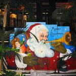 überdimensionaler Weihnachskalender handgemalt