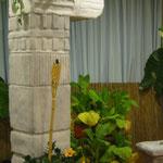 Workshopraum Südamerika mit Styrobauten