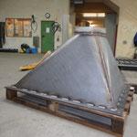Frisch produziert / Nächste Arbeitsschritte sandstrahlen und lackieren