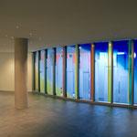 Neue Krankenhauskapelle Weilheim/Obb.; Glastechnische Ausführung: Derix-Glasstudios, Taunusstein, Foto: Celia Mendoza©2019