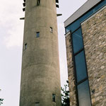 St. Wendel, Frankfurt a.M., Turm mit Taufraum, Architekt: Johannes Krahn, Foto: Celia Mendoza