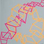 Skizzenbuch: loops, 30x30cm, 2018, Tape auf Papier