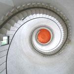 St. Wendel, Frankfurt a.M., Blick vom Taufstein in den Turm, Foto: Müller-Horrig