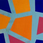 o.T., 2020, 30 x 30 cm, Acryl auf Holz