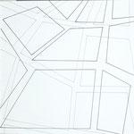Skizzenbuch: dimensions, 2019, 30 x 30 cm, Tusche auf Papier