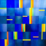 Altarfenster im Neubau der Neuapostolischen Kirche Regensburg, 2,23 m x  2,21 m, Opac-und Opalglas auf Keramikdruck, Glastechnische Ausführung: Derix Glasstudios, Taunusstein; Foto: Ralf Schkutow©2018