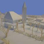 Pfarrkirche St. Paulus Balingen-Frommern, von Südwesten