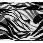 Anwesend- abwesend, 2019, Holzschnitt,12 x 33 cm