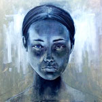 Fleur | Oil on Canvas | image: 1210x1210mm - framed: 1250x1250mm | Liz Gray   SOLD