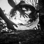 Bloc de glace dans la forêt de Fontainebleau, vers 1935 © Charlotte Perriand