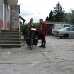Verabschiedung vor sem Hotel in Biala Podlaska