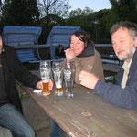 Kreuzberger Biergarten mit Monika ; Jörg und Volker aus Herbolze