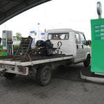 nur Huckepack kommt man nach Belarus (Weissrussland)