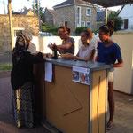ouverture du stand restauration et boissons