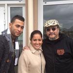 Alian, Yanitse et Roberto de radio latina au Latino Festival d'Honfleur