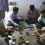 Essen mit Arbeitskollegen