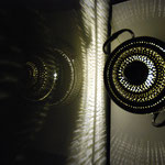 In Circles : lampe d'ambiance en étain