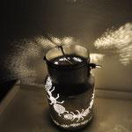 Fourmillements : pot à lait photophore