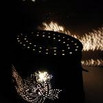On poisse : lampe panier de pêcheur vintage