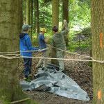 Kreativität: Projekt Nachtlager... Hängematte für drei?