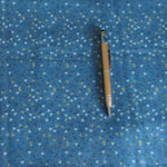 Stoff Blau 14 - Dreiecke