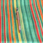 Stoff Streifen 5 - breite Streifen grün/rot/orange/gelb