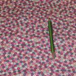 Stoff Blütenserie 15  - Beere/Braun