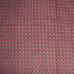 Stoff Blütenserie 7 - Rot/Dunkelblau
