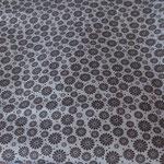 Stoff Grau 8 - schwarze Blüten
