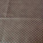 Stoff Kringel/Punkte 2 - braun - Kringel orange