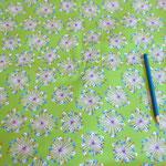 Stoff Grün - Pusteblume