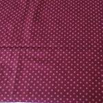 Stoff Kringel/Punkte 5 - weinrot - Kringel rosa