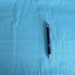 Stoff Punkte 18a - Hellblau/kleine Punkte Hellgrün