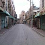 Geisterstraße in Hebron