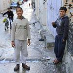 Kinder in einem palästinensischen Flüchtlingscamp in Nablus