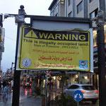 Zeichen des Protests in Ramallah