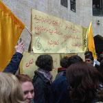 Wahlkampfstand der Young Fatah
