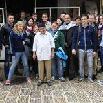 Gruppenbild mit Koch in Nablus