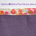 Liberty Wiltshire Fluo Thé sur pilou prune