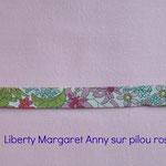 Liberty MArgaret Anny sur pilou rose