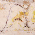 日月山水図屏風へのオマージュ/194×324cm/mixed media/2008