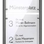 HighGrade Edelstahlwandhalter, Wandabstand 55 mm. Preis auf Anfrage.