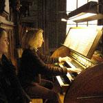 Das Orgelspiel...