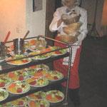 elegante Brotkörbli-Akrobatik
