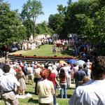 Openairarena Kannenfeldpark Basel: eine ganz besondere Gottesdienstkulisse
